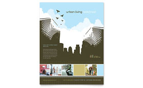Urban Real Estate - Flyer Template Design Sample