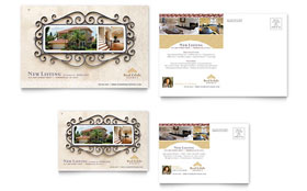 Luxury Real Estate - Postcard Template Design Sample
