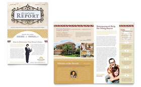 Luxury Real Estate - Newsletter Template Design Sample