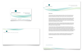 Coastal Real Estate - Business Card & Letterhead Template Design Sample