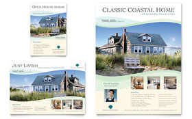 Coastal Real Estate - Flyer & Ad Template Design Sample