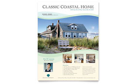 Coastal Real Estate - Flyer Template