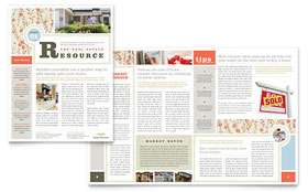 Real Estate Home for Sale - Newsletter Template Design Sample