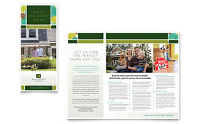 Real Estate - Tri Fold Brochure Template Design Sample