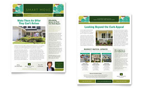 Real Estate - Newsletter Template Design Sample