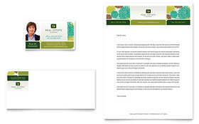 Real Estate - Business Card & Letterhead Template