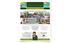 Real Estate - Flyer Template Design Sample