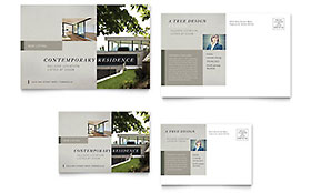 Contemporary Residence - Postcard Template