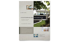 Contemporary Residence - Flyer Sample Template