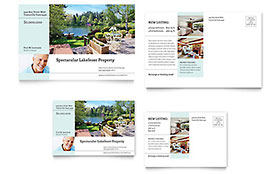 Lakefront Property - Postcard Template