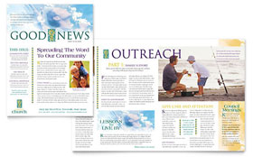 Christian Church - Newsletter Template Design Sample