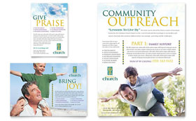 Christian Church - Leaflet Sample Template
