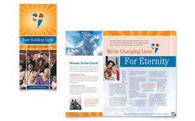 Evangelical Church - Microsoft Word Brochure Template