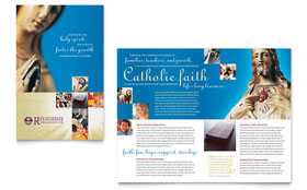 Catholic Parish and School - Microsoft Word Brochure Template