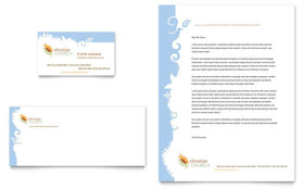Christian Church - Business Card & Letterhead Template Design Sample
