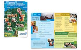 Community Church - Adobe Illustrator Brochure Template