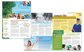 Community Church - Newsletter Template Design Sample