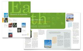 Environmental & Agricultural Non Profit - Brochure Template Design Sample