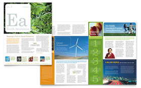 Environmental & Agricultural Non Profit - Newsletter Template Design Sample
