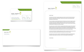 Environmental & Agricultural Non Profit - Business Card & Letterhead Template Design Sample