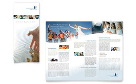 Christian Ministry - Tri Fold Brochure Template Design Sample