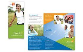 Church Youth Ministry - Brochure Sample Template