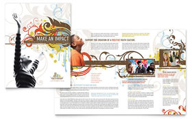 Church Youth Group - Microsoft Word Brochure Template