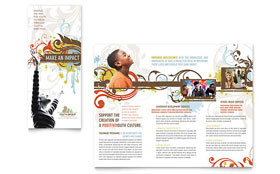 Church Youth Group - Tri Fold Brochure Sample Template
