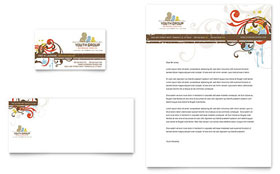 Church Youth Group - Business Card & Letterhead Template