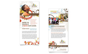Church Ministry & Youth Group - Rack Card Template Design Sample