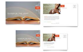 Christian Church Religious - Postcard Template