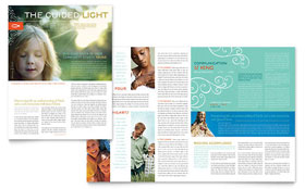 Christian Church Religious - Newsletter Sample Template
