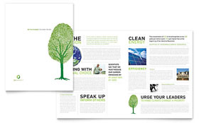 Green living recycling newsletter template design for Environment brochure template