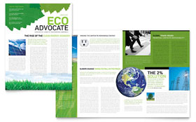Environmental Non Profit - Newsletter Template Design Sample