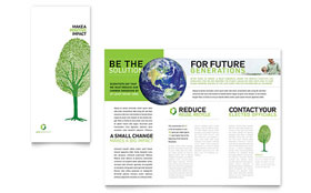 Environmental Non Profit - Tri Fold Brochure Template