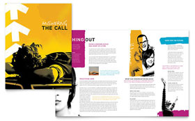 Church Outreach Ministries - Microsoft Word Brochure Template