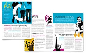 Church Outreach Ministries - Newsletter Template Design Sample