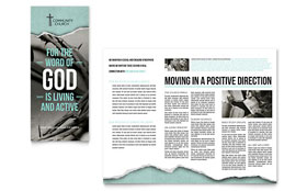 Bible Church - Brochure Template Design Sample