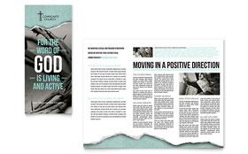Bible Church - Print Design Brochure Template