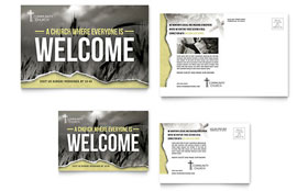 Bible Church - Postcard Template Design Sample