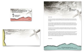 Bible Church - Business Card & Letterhead Template Design Sample