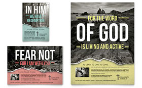 Bible Church - Leaflet Template Design Sample