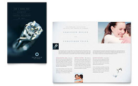 Jeweler & Jewelry Store - Brochure Template Design Sample
