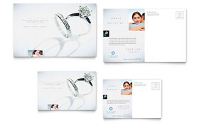 Jeweler & Jewelry Store - Postcard Template Design Sample