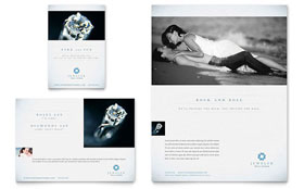 Jeweler & Jewelry Store - Print Ad Sample Template