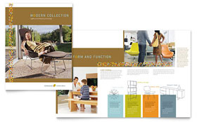 Furniture Store - Brochure Template Design Sample