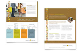 Furniture Store - Datasheet Template Design Sample