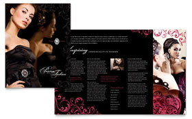 Formal Fashions & Jewelry Boutique - Business Marketing Brochure Template