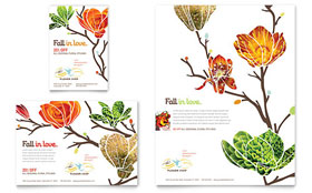 Flower Shop - Flyer & Ad Template Design Sample