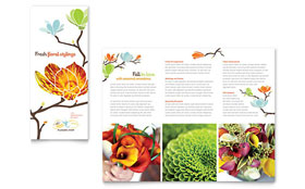 Flower Shop - Tri Fold Brochure